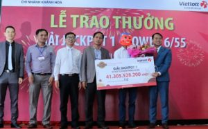 Vietlott trao giải Jackpot 1 trị giá 41,3 tỷ đồng cho khách hàng tại Đăk Lăk