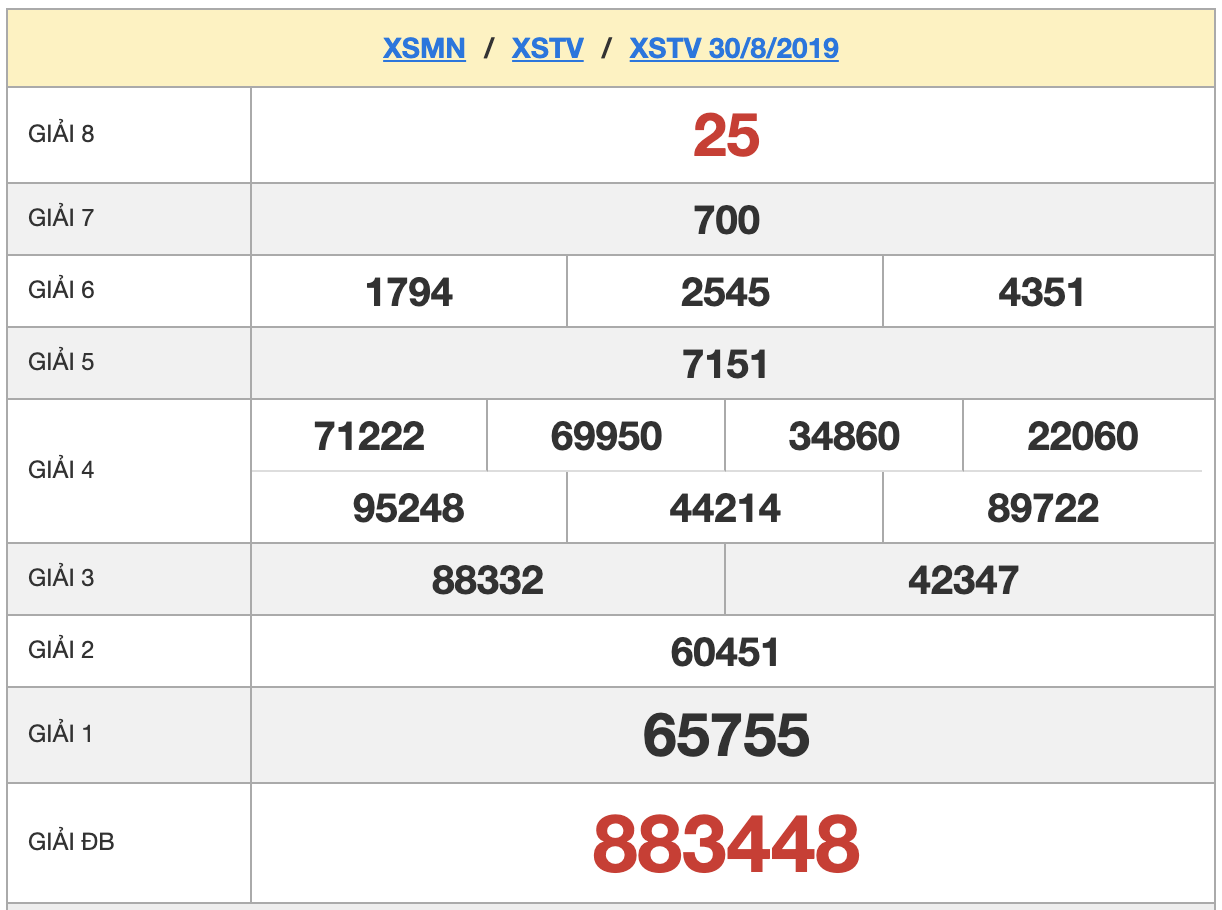 XSTV 30/8/2019