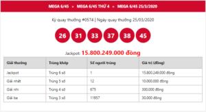 Jackpot trị giá gần 16 tỷ đồng của Mega 6/45 đã có người may mắn trúng thưởng